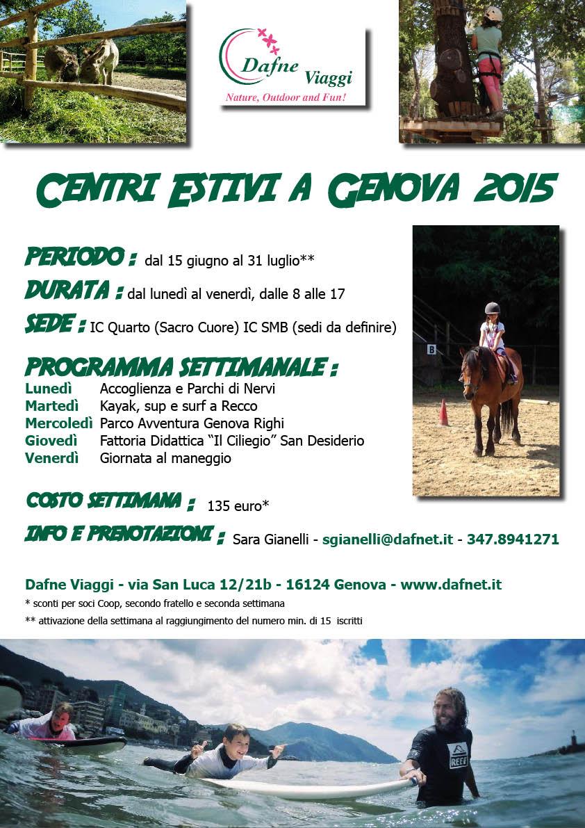 Centri Estivi Genova 2015
